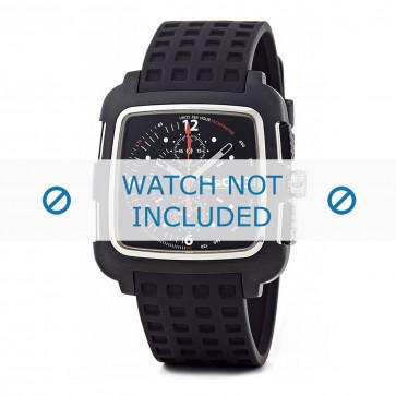 Cinturino per orologio Dolce & Gabbana DW0362 Gomma Nero 24mm