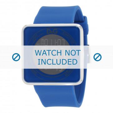 Cinturino per orologio Dolce & Gabbana DW0736 Gomma Blu 28mm
