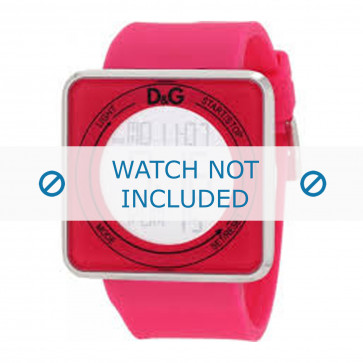 Dolce & Gabbana cinturino dell'orologio DW0737 Gomma / plastica Rosa 28mm