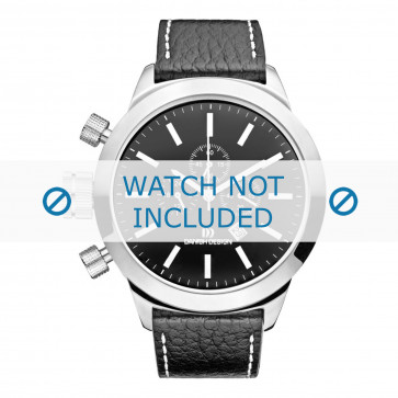 Danish Design cinturino dell'orologio  IQ13Q1040 Pelle Nero 23mm + cuciture bianco