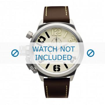 Danish Design cinturino dell'orologio IQ15Q917 Pelle Marrone scuro 23mm + cuciture bianco