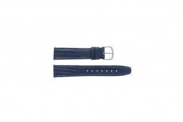 Davis cinturino dell'orologio B0084 Pelle Blu 18mm