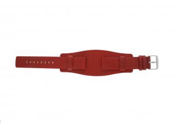 Davis cinturino orologio B0223 Pelle Rosso 20mm