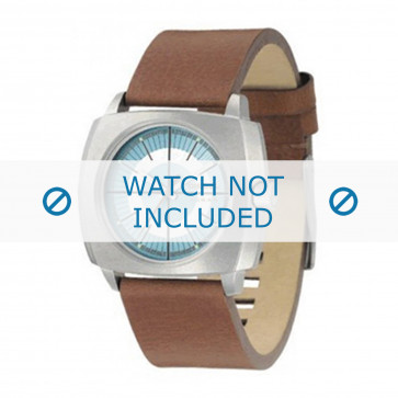 Diesel cinturino dell'orologio DZ1075 Pelle Cognac 24mm