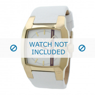 Cinturino per orologio Diesel DZ1298 Pelle Bianco 18mm
