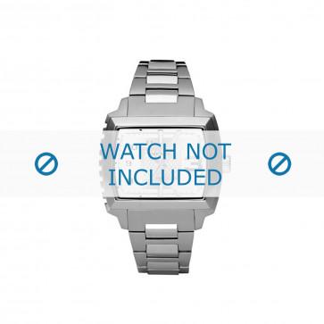 Diesel cinturino dell'orologio DZ1366 Acciaio inossidabile Argento 25mm