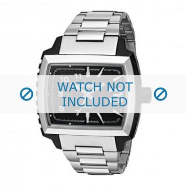 Diesel cinturino dell'orologio DZ1367 Metallo Argento 25mm