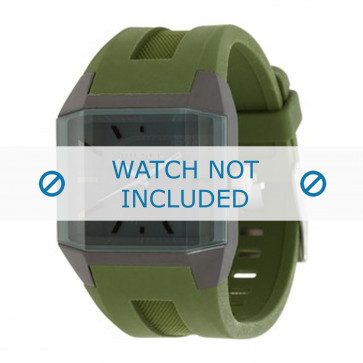 Diesel cinturino dell'orologio DZ1389 Silicone Verde 20mm