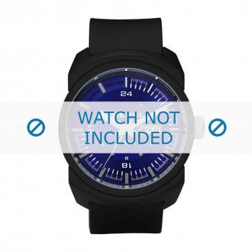 Diesel cinturino dell'orologio DZ1407 Silicone Nero 26mm