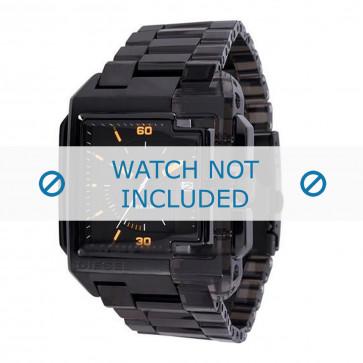 Diesel cinturino dell'orologio DZ1420 Acciaio inossidabile Nero 27mm