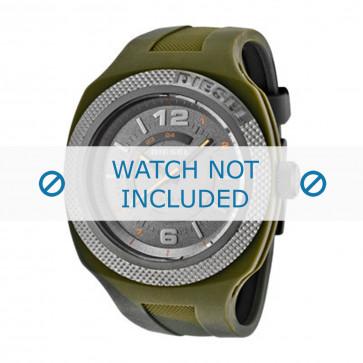 Diesel cinturino dell'orologio DZ1442 Silicone Verde
