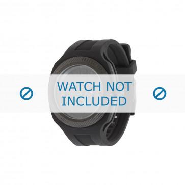 Diesel cinturino dell'orologio DZ1444 Silicone Nero