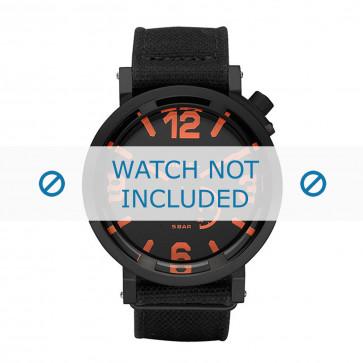 Diesel cinturino dell'orologio DZ1471 Tessuto Nero 24mm