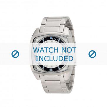 Diesel cinturino dell'orologio DZ1493 Acciaio inossidabile Argento 24mm