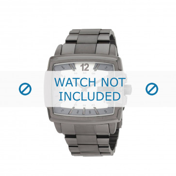 Diesel cinturino dell'orologio DZ1498 Acciaio inossidabile Grigio 28mm