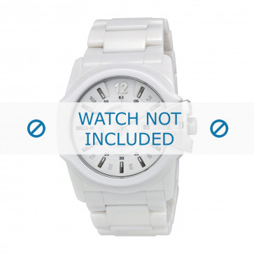 Diesel cinturino dell'orologio DZ1515 Ceramica Bianco 30mm