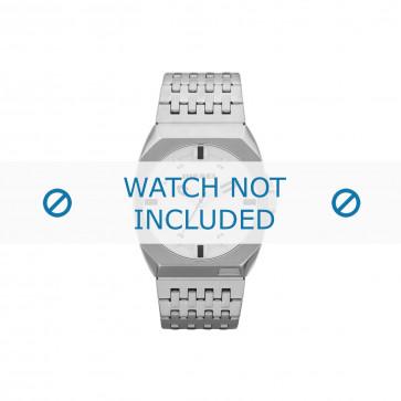 Diesel cinturino dell'orologio DZ1547 Metallo Argento 26mm
