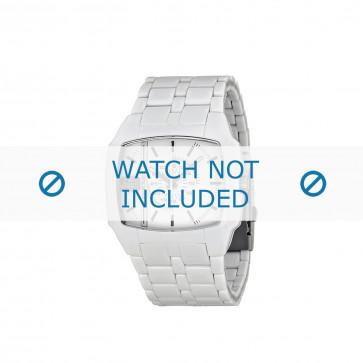 Diesel cinturino dell'orologio DZ1548 Plastica Bianco 21mm