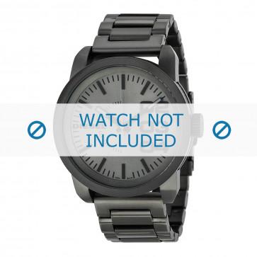 Diesel cinturino dell'orologio DZ1558 Acciaio inossidabile Grigio 24mm