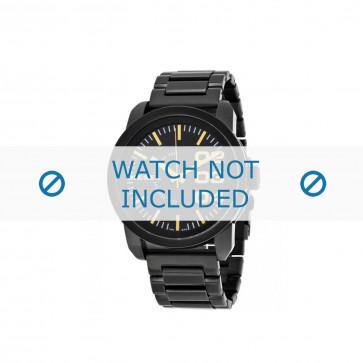 Diesel cinturino dell'orologio DZ1566 Acciaio inossidabile Nero 24mm