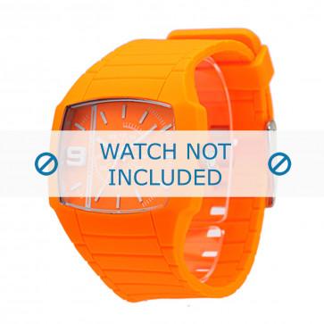 Diesel cinturino dell'orologio DZ1582 Silicone Arancione 28mm