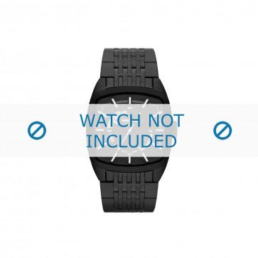 Diesel cinturino dell'orologio DZ1586 Acciaio inossidabile Nero 22mm