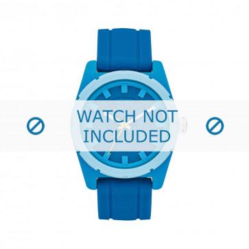 Diesel cinturino dell'orologio DZ1592 Silicone Blu 24mm