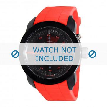 Cinturino per orologio Diesel DZ1607 Silicone Rosso 24mm