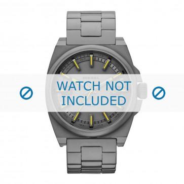 Diesel cinturino dell'orologio DZ1615 Acciaio inossidabile Grigio 24mm