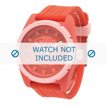 Diesel cinturino dell'orologio DZ1627 Silicone Rosso 24mm