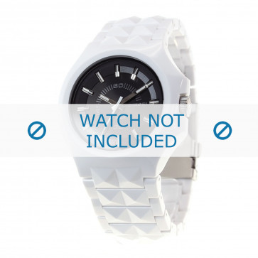 Diesel cinturino dell'orologio DZ1645 Plastica Bianco 26mm