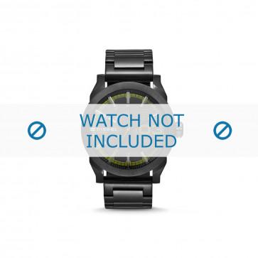 Diesel cinturino dell'orologio DZ1678 Acciaio inossidabile Nero 24mm