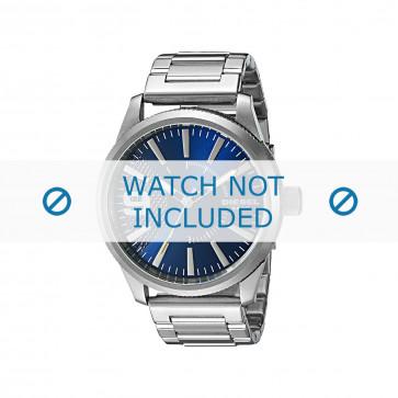Diesel cinturino dell'orologio DZ1763 Metallo Argento 24mm
