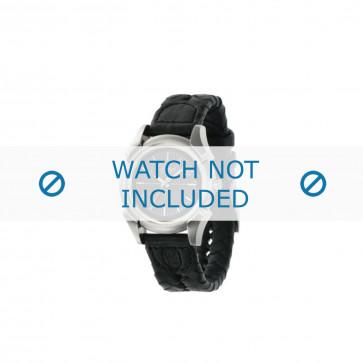 Diesel cinturino dell'orologio DZ2149 Pelle Nero 20mm + cuciture nero