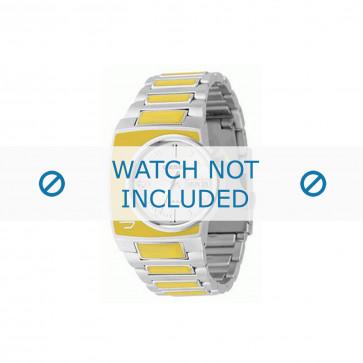 Diesel cinturino dell'orologio DZ4068 Acciaio inossidabile Argento 16mm