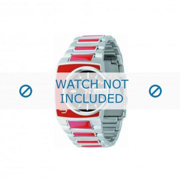 Diesel cinturino dell'orologio DZ4069 Acciaio inossidabile Argento 16mm