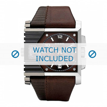 Diesel cinturino dell'orologio DZ4186 Pelle Marrone 36mm + cuciture marrone