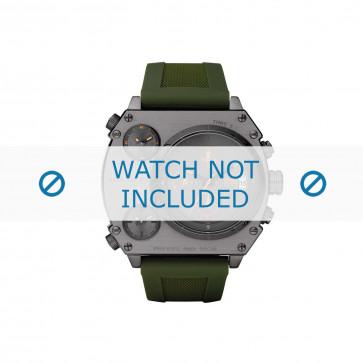 Cinturino per orologio Diesel DZ4202 Silicone Verde 28mm
