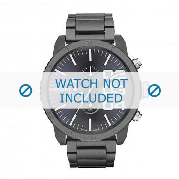 Diesel cinturino dell'orologio DZ4269 Metallo Grigio antracite 26mm