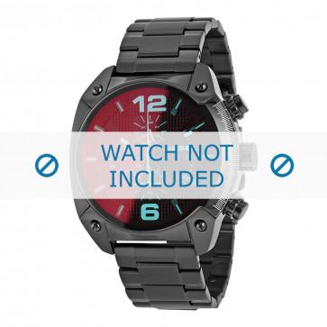 Diesel cinturino dell'orologio DZ4316 Metallo Nero 24mm