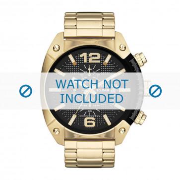 Diesel cinturino dell'orologio DZ4342 Metallo Oro 24mm
