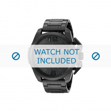 Diesel cinturino dell'orologio DZ4362 Acciaio inossidabile Nero 24mm