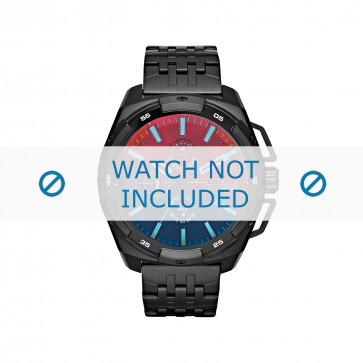 Diesel cinturino dell'orologio DZ4395 Acciaio inossidabile Nero 24mm