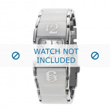 Diesel cinturino dell'orologio DZ5043 Acciaio inossidabile Bianco 21mm