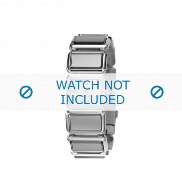 Diesel cinturino dell'orologio DZ5157 Acciaio inossidabile Argento 25mm