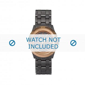 Diesel cinturino dell'orologio DZ5257 Acciaio inossidabile Grigio 18mm