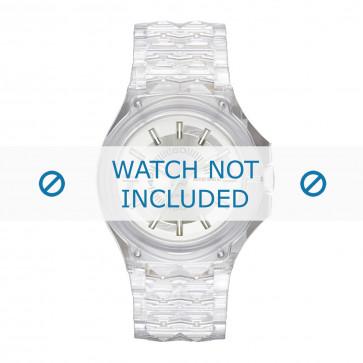 Diesel cinturino dell'orologio DZ1709 Plastica Transparente 26mm
