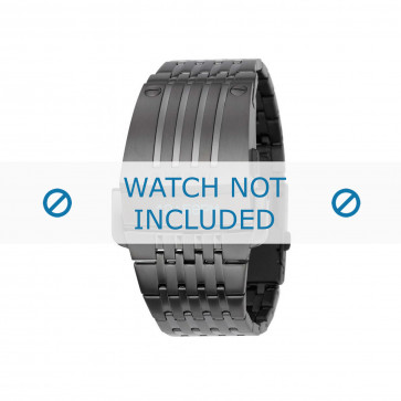 Diesel cinturino dell'orologio DZ7111 Metallo Nero 30mm