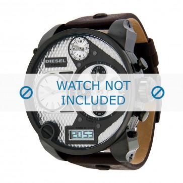 Diesel cinturino dell'orologio DZ7126 Pelle Marrone scuro 29mm