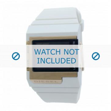 Diesel cinturino dell'orologio DZ7149 Silicone Bianco 23mm
